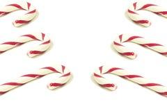 Несколько тросточек конфеты выровнянных вверх с обеих сторон изображения r стоковое фото