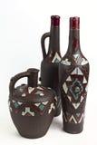 Несколько бутылок глины Стоковое фото RF