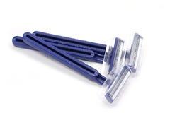 Несколько голубых бритв Стоковые Изображения