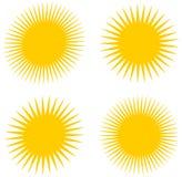 Несколько греют на солнце сторона и поворачивают Стоковая Фотография