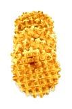 Круг Waffles золотистый Стоковая Фотография RF