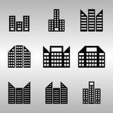 Несколько из установленных значков здания Стоковые Фотографии RF