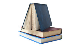Несколько книг, белая предпосылка Стоковые Изображения RF