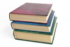 Несколько книг, белая предпосылка Стоковое Изображение