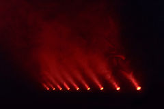 Несколько красных светов диско Стоковое Изображение RF