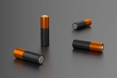 Несколько перезаряжаемые батарей Стоковое Изображение