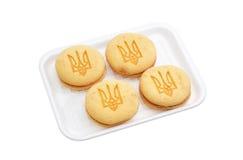 Несколько печенья 2-слоя с изображением трёхзубца Стоковая Фотография RF