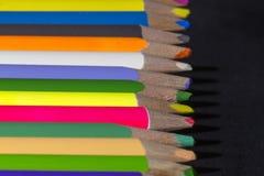 Несколько покрашенных карандашей Стоковое Изображение