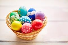 Несколько покрашенных яичек Стоковая Фотография