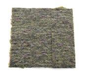 Несколько прокладок высушенных изолированных листов морской водоросли Стоковые Изображения