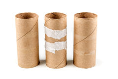Несколько пустых кренов туалетной бумаги Стоковое Фото