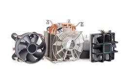 Несколько различных heatsinks C.P.U. active с вентиляторами Стоковые Фотографии RF