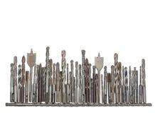Несколько старых сверла и размеры и дизайнов битов различных Стоковое Изображение RF