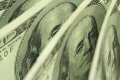 несколько старых счетов 100-доллара Стоковые Фото