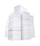 Несколько стогов бумаги стоковые фотографии rf