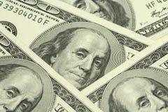 Несколько счетов 100 предпосылок доллара американца Стоковое Изображение