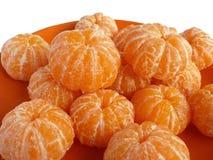 Несколько слезли tangerine Стоковые Изображения