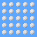 Несколько шариков olf на сини иллюстрация вектора
