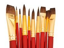 Несколько paintbrushes акварели закрывают вверх Стоковое Изображение RF
