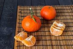 несколько tangerines Стоковое Изображение