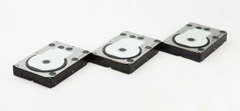 Нескольк жесткий диск изолированный на белизне Стоковое Фото