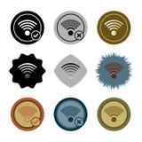 Нескольк стиль знака значка wifi иллюстрация вектора