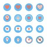 Нескольк стиль установленных значков сердца Стоковая Фотография