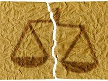 несправедливость Стоковое Изображение