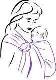 Несущая слинга младенца бесплатная иллюстрация