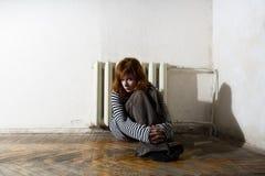 несчастная женщина стоковое изображение rf