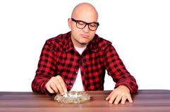Несчастная курильщица стоковое изображение