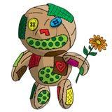 Несчастная клочковатая кукла. Стоковое Фото