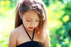 Несчастная маленькая девочка Стоковое Изображение RF