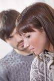 несчастное пар унылое Стоковое фото RF