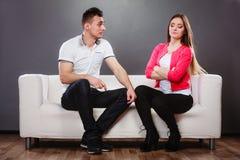 Несчастные пары не говоря рассогласование Стоковые Фотографии RF
