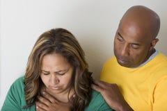 Несчастные пары споря и имея проблемы отношения Стоковое фото RF