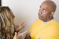 Несчастные пары споря и имея проблемы отношения Стоковые Фото