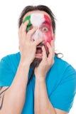 Несчастный вентилятор от национальной команды Италии мажа флаг ab Стоковое Изображение