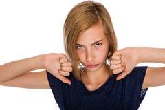 Несчастный ребенк с headgear стоковые изображения rf