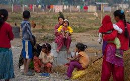 неторопливая жизнь nepalese Стоковые Фото