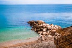 Нетронутый пляж в Хорватии стоковые фотографии rf