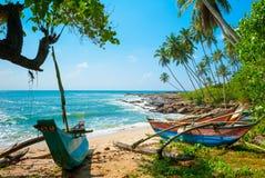 Нетронутый тропический пляж Стоковое Фото