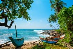 Нетронутый тропический пляж Стоковое Изображение