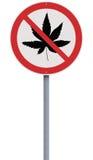 Нет к марихуане иллюстрация штока