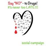 НЕТ к плакату лекарств Стоковое Изображение