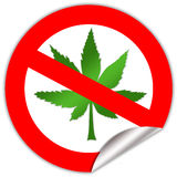 нет марихуаны Стоковые Фото