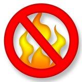 нет пожара Стоковое Изображение