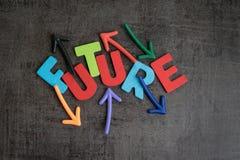 Неуверенное будущее или следующая непрогнозируемая концепция цели жизни, colorf стоковое фото rf