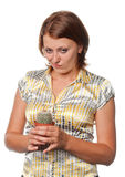 неудовлетворенная девушка Стоковая Фотография RF