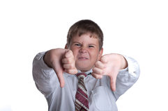 неудовлетворенный мальчик Стоковые Фото